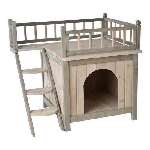 Domek dla kota z legowiskiem Prince - Dł. x szer. x wys.: 73 x 56 x 65 cm (6942453320349)