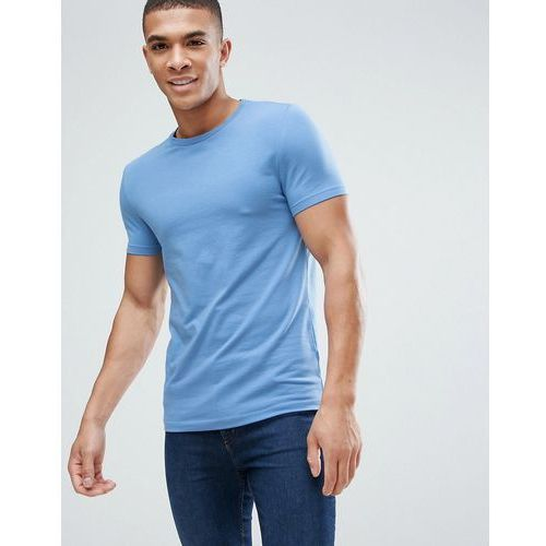 ASOS Muscle Fit T-Shirt With Crew Neck In Blue - Blue