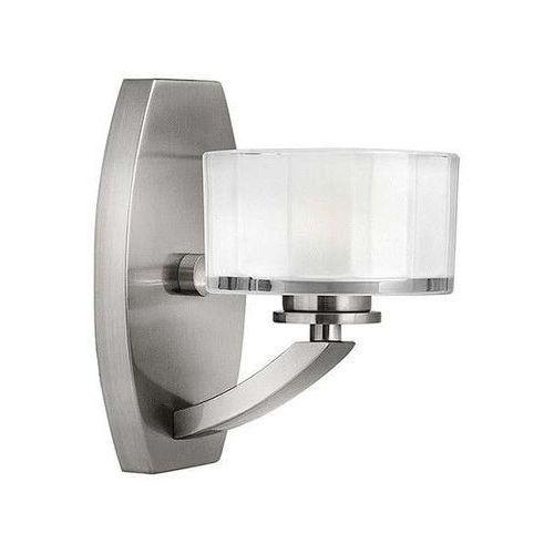 Kinkiet LAMPA ścienna HK/MERIDIAN1 Elstead HINKLEY nowoczesna OPRAWA metalowa halogenowa nikiel szczotkowany biała, HK/MERIDIAN1