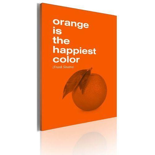Artgeist Obraz - orange is the happiest color (frank sinatra)