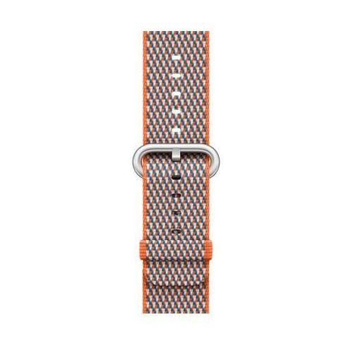 Pasek do smartwatcha APPLE Watch z plecionego nylonu w kolorze gorzkiej pomarańczy (w kratkę) do koperty 38 mm MQVE2ZM/A