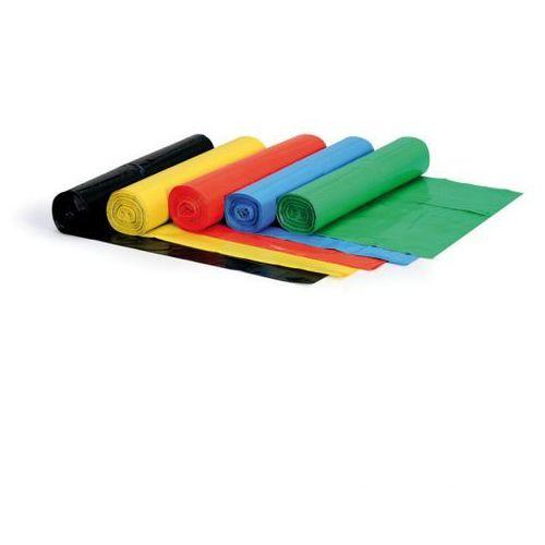 Worek na śmieci 120 litrów, 700 x 1100 mm, LDPE, 60 mikronów, żółty