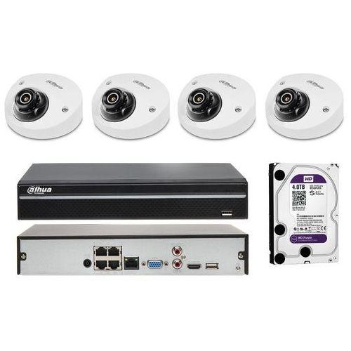 Dahua Zestaw do monitoringu na 4 kamery z detekcją ruchu