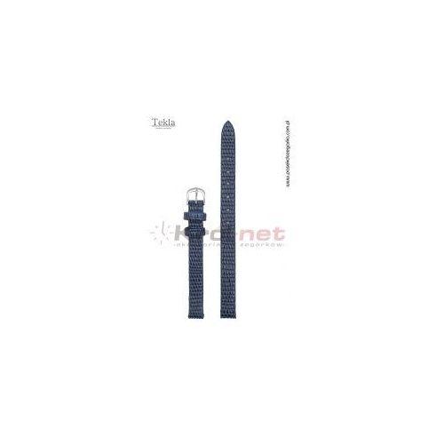 Pasek TK033GR/10 - granatowy, imitacja skóry jaszczurki, kolor niebieski