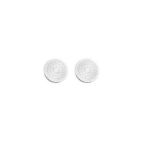 Sztyfty / kolczyki okrągłe Rozetki, srebro 925 SZ 93