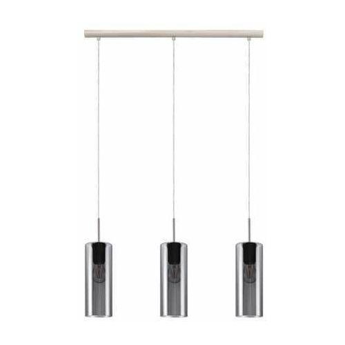 Eglo Selvino 98695 lampa wisząca zwis 3x15W E27 nikiel/czarna-transparentna (9002759986957)