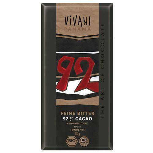 Czekolada gorzka 92% bio 6x80g- marki Vivani