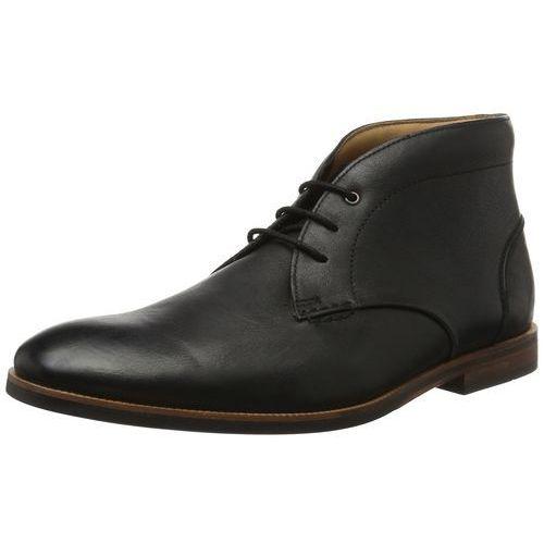 Clarks mężczyzn broyd mid buty z krótką cholewką - czarny - 43 eu