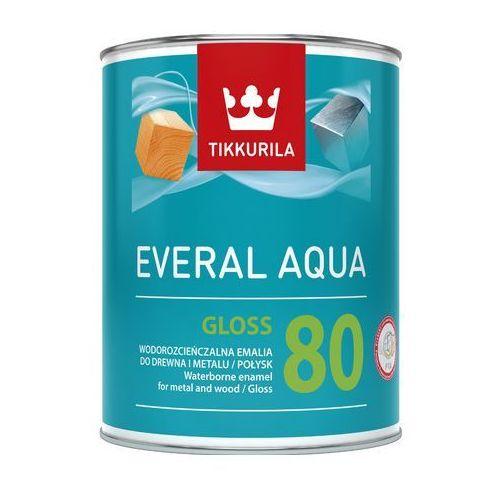 everal aqua gloss 80- emalia do drewna, 0.9l marki Tikkurila