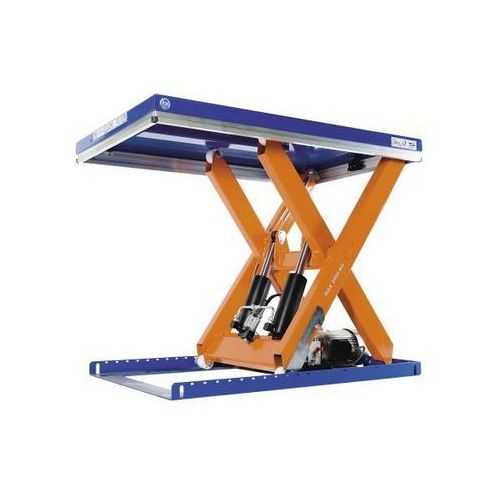 Kompaktowy stół podnośny, udźwig 4000 kg, dł. x szer. platformy 2200x1200 mm, po
