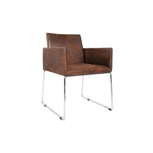 Krzesło Porto z podłokietnikami - brązowy, kolor brązowy