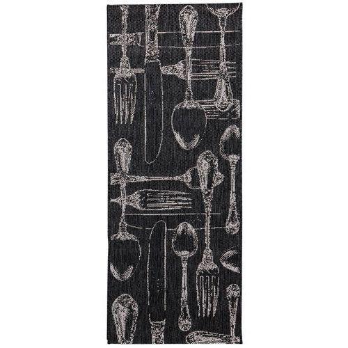 dywan cottage cutlery black/wool 60x180cm, 60 × 180 cm marki Dekoria