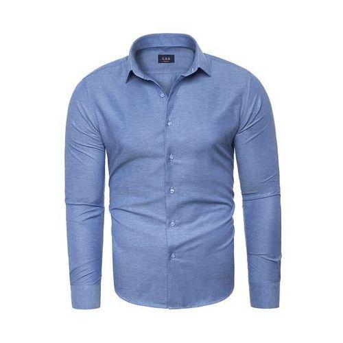 Koszula męska długi rękaw C.S.S 275 - niebieska, KOSZULA (RL37) - BIAŁY
