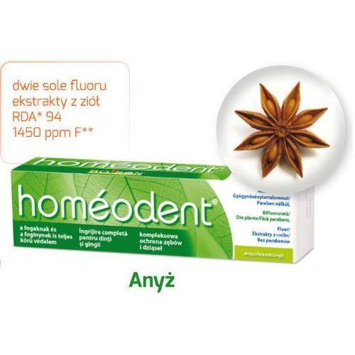 Homeodent kompleksowa ochrona zębów i dziąseł pasta anyżowa 75ml marki Boiron