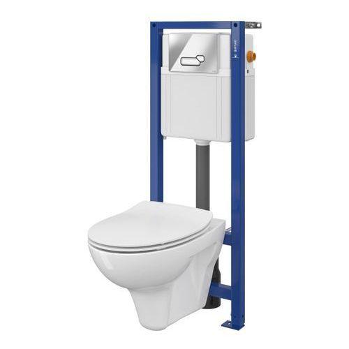 Zestaw podtynkowy WC Cersanit Lotos z deską z duroplastu przycisk chrom, SZWZ1005286324
