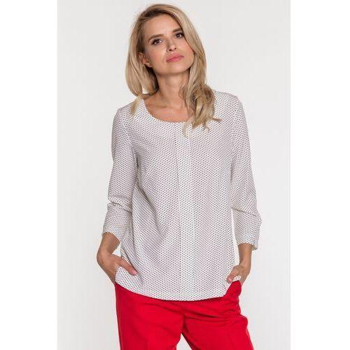 Biała bluzka w drobny wzór - marki Studio mody pdb