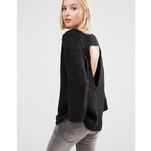 Cheap Monday Knit Jumper with Open Back - Black