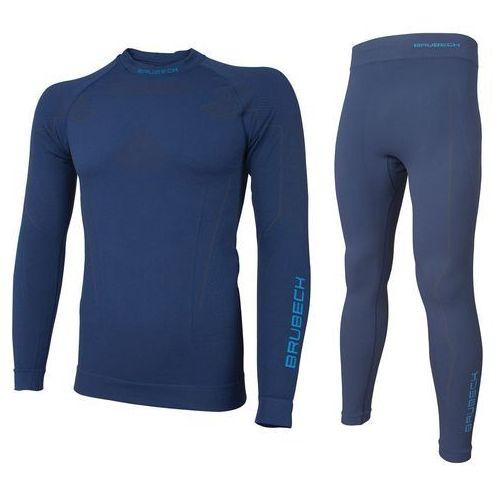 Bielizna termoaktywna komplet męski thermo ls13040 (bluza) + le11840 (spodnie) granatowy xl marki Brubeck