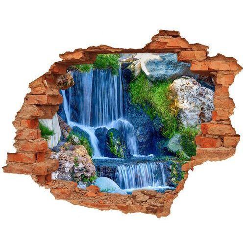 Wallmuralia.pl Dziura 3d w ścianie naklejka cegła wodospad