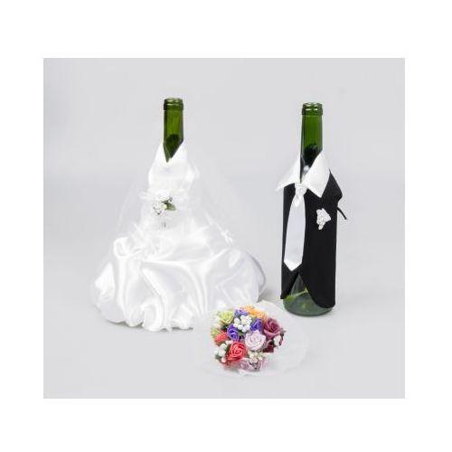 Select Cudowne ubranko ślubne na butelkę od wina