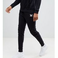 Good For Nothing TALL Skinny Joggers In Black With Reflective Logo - Black, 1 rozmiar