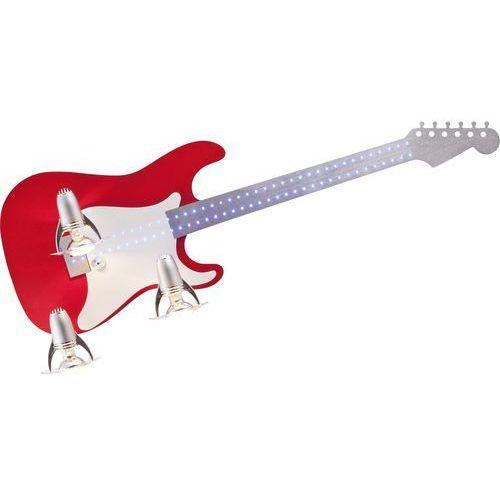 Nowodvorski Plafon lampa guitar iii 4223 oprawa sufitowa 3x40w e14 czerwony