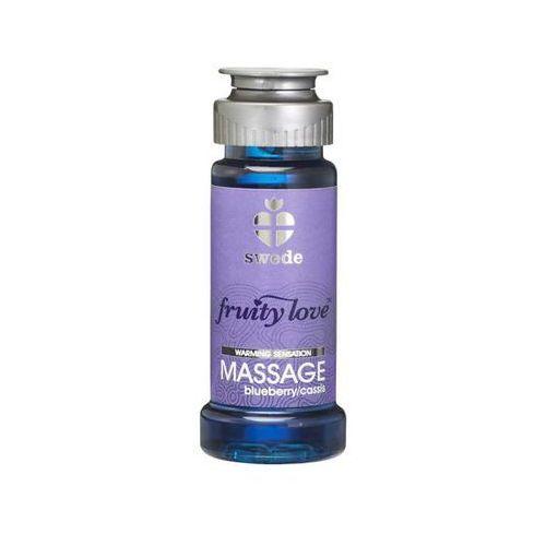 Owocowy olejek do masażu - Swede Fruity Love Massage Blueberry/Cassis 50 ml Jagoda Porzeczka