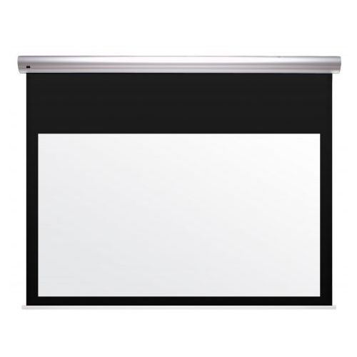 Ekran elektrycznie rozwijany z napinaczami Kauber BLUE LABEL XL - TENSIONED BLACK TOP format 4:3 320x240