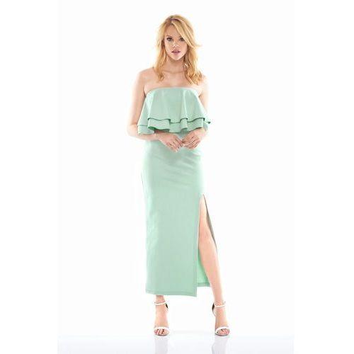 Sukienka bella w kolorze miętowym, Sugarfree, 36-40