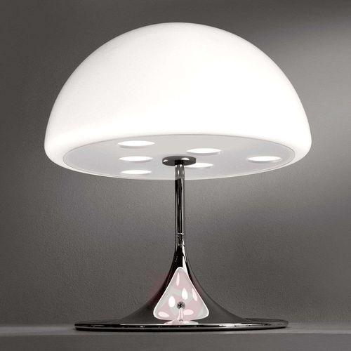 Martinelli Luce Mico – lampa stołowa, 60 cm, biały (8033383019880)