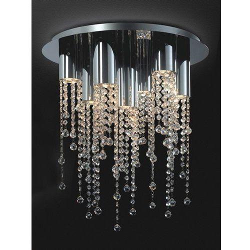 Plafon Italux Larix MX93708-7A lampa sufitowa z kryształkami 7x35W GU10 chrom