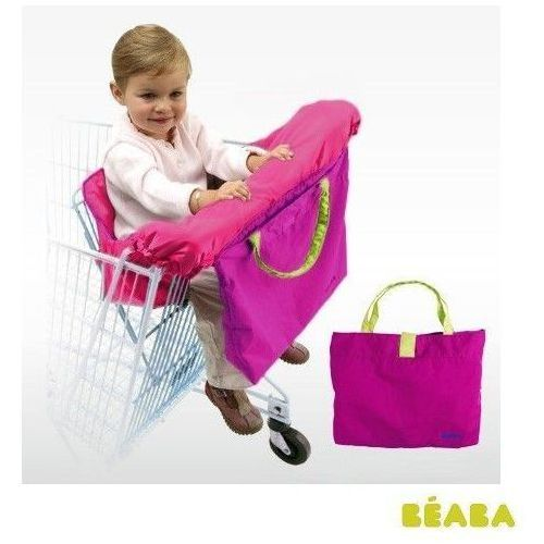 Siedzisko do wózka sklepowego - fioletowo - zielony marki Beaba
