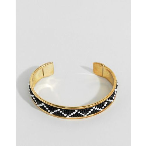 Asos design embellished bead cuff bracelet - gold