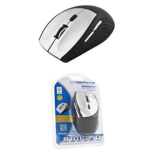 Esperanza mysz andromeda bluetooth optyczna 6 przycisków   1000/1600/2400 dpi   srebrna em123s (5901299903605)