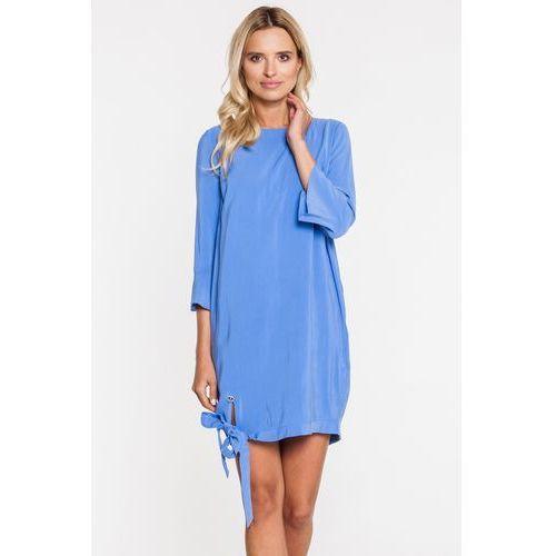 Jasnoniebieska sukienka z wiązaniem na boku - Ennywear