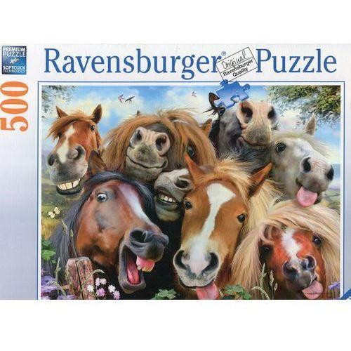 Puzzle 500 Końskie selfie - Ravensburger. DARMOWA DOSTAWA DO KIOSKU RUCHU OD 24,99ZŁ, 88803802938ZA (8402549)