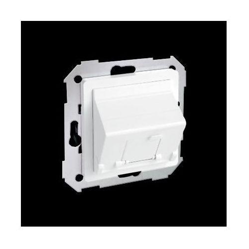 Pokrywa 1x gniazdo rj45, skośna z żaluzją (moduł).!wymagany adapter 75001-39; biały marki Kontakt-simon