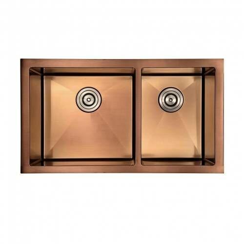 Zlewozmywak Kuchenny Podwójny ROSE GOLD Seria X88G, kolor złoty