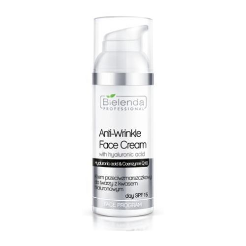 anti-wrinkle face cream with hyaluronic acid spf 15 krem przeciwzmarszczkowy z kwasem hialuronowym spf 15 - 50 ml marki Bielenda professional