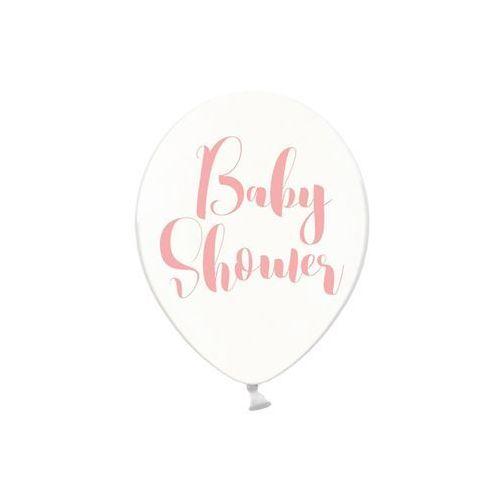 Balony przezroczyste na baby shower dziewczynki - 30 cm - 50 szt. marki Party deco