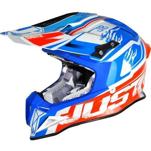 Just1 Kask j12 dominator white-blue-red