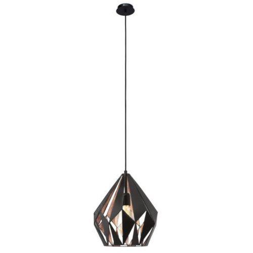 Lampa wisząca 1x60w vintage carlton 1 - 31cm czarna, 49254 marki Eglo