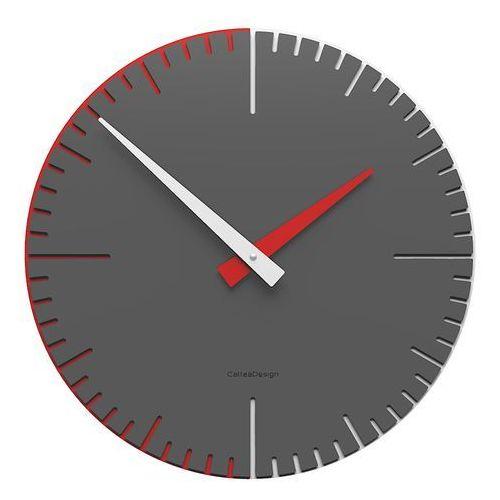 Zegar ścienny do pokoju młodzieżowego exacto 36 cm ciemnoszary (10-025-64) marki Calleadesign