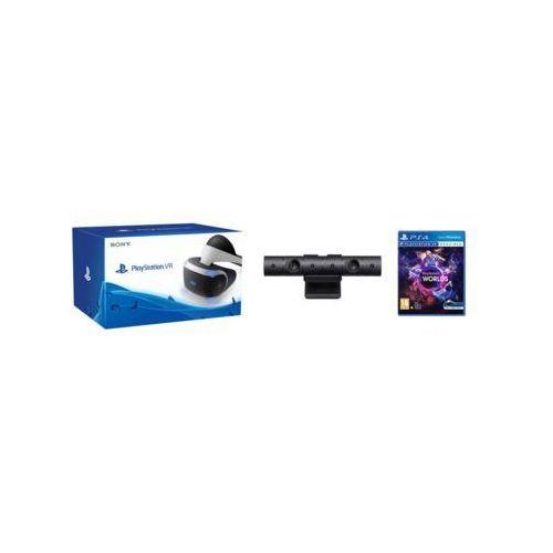 Gogle Wirtualnej Rzeczywistości SONY PlayStation VR + PlayStation Camera V2 + VR Worlds (Voucher) (0711719952060)