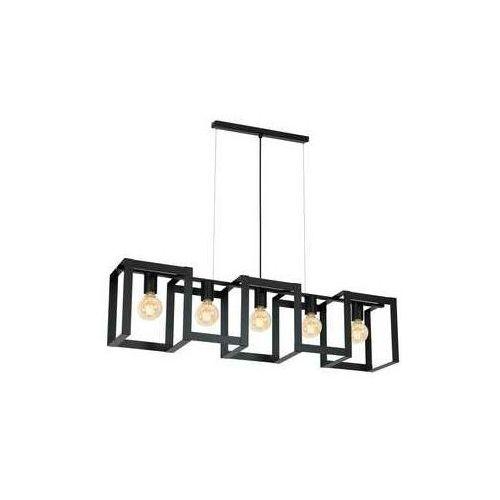 Luminex kartel 845 lampa wisząca zwis 5x60w e27 czarny