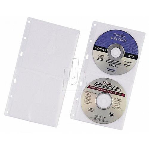 Kieszeń na 2 płyty CD z wyściółką ochronną do segregatorów A4 zapas 5 sztuk 520319