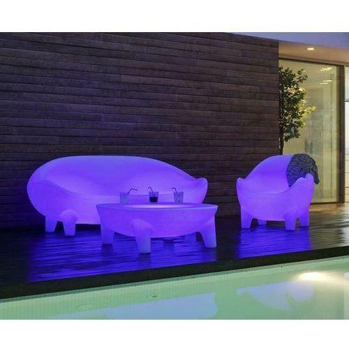 NEW GARDEN stolik MARTINICA SOLAR biały - LED, sterowanie pilotem (5900000046921)