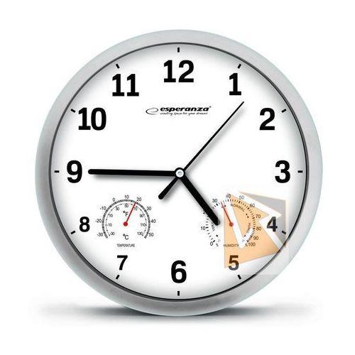 Esperanza zegar ścienny lyon biały (ehc016w) szybka dostawa! darmowy odbiór w 21 miastach! (5901299930083)