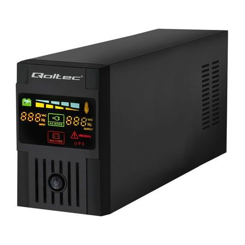 Qoltec Zasilacz awaryjny UPS MONOLITH | 800VA | 480W | LCD | USB (5901878539522)