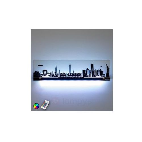 Szklany obraz świetlny led rgb nowy jork marki Lampenwelt